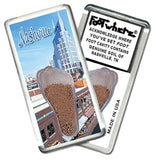 Nashville FootWhere® Souvenir Magnet. Made in USA-FootWhere® Souvenirs