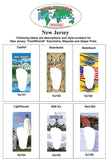 New Jersey FootWhere® Souvenir Key Chain. Made in USA - FootWhere® Souvenirs