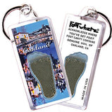 Oakland FootWhere® Souvenir Keychain. Made in USA-FootWhere® Souvenirs