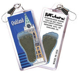 Oakland FootWhere® Souvenir Zipper-Pull. Made in USA-FootWhere® Souvenirs