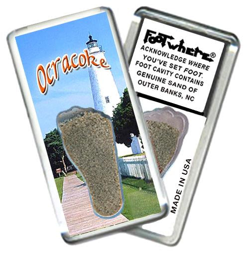 Outer Banks, NC FootWhere® Souvenir FridgeMagnet. Made in USA-FootWhere® Souvenirs