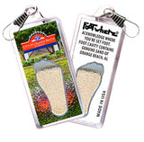 Orange Beach FootWhere® Souvenir Zipper-Pulls. 6 Piece Set. Made in USA