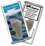 Ocean Beach FootWhere® Souvenir Fridge Magnets. 6 Piece Set. Made in USA-FootWhere® Souvenirs
