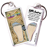 Ocean City FootWhere® Souvenir Keychain. Made in USA - FootWhere® Souvenirs