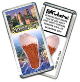 Oklahoma City FootWhere® Souvenir Fridge Magnet. Made in USA - FootWhere® Souvenirs