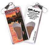 Omaha FootWhere® Souvenir Zipper-Pull. Made in USA-FootWhere® Souvenirs