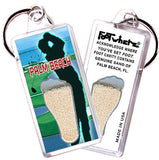Palm Beach, FL FootWhere® Souvenir Key Chain. Made in USA-FootWhere® Souvenirs