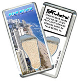 Palm Beach, FL FootWhere® Souvenir Fridge Magnet. Made in USA-FootWhere® Souvenirs