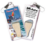 Panama City FootWhere® Souvenir Zipper-Pull. Made in USA - FootWhere® Souvenirs