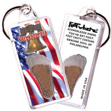 Philadelphia FootWhere® Souvenir Keychains. 6 Piece Set. Made in USA
