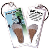 Philadelphia FootWhere® Souvenir Keychain. Made in USA-FootWhere® Souvenirs