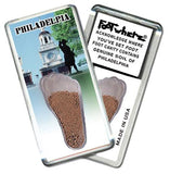 Philadelphia FootWhere® Souvenir Fridge Magnet. Made in USA-FootWhere® Souvenirs