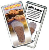 Philadelphia FootWhere® Souvenir Fridge Magnets. 6 Piece Set. Made in USA