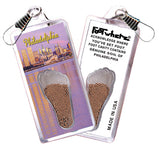 Philadelphia FootWhere® Souvenir Zipper-Pulls. 6 Piece Set. Made in USA