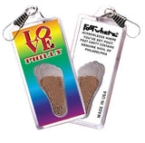 Philadelphia FootWhere® Souvenir Zipper-Pull. Made in USA-FootWhere® Souvenirs