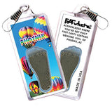 Phoenix FootWhere® Souvenir Zipper-Pull. Made in USA-FootWhere® Souvenirs