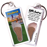 Pittsburgh FootWhere® Souvenir Keychains. 6 Piece Set. Made in USA