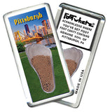 Pittsburgh FootWhere® Souvenir Fridge Magnets. 6 Piece Set. Made in USA