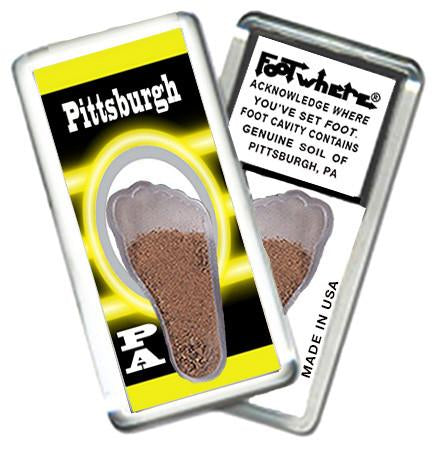 Pittsburgh FootWhere® Souvenir Fridge Magnet. Made in USA - FootWhere® Souvenirs