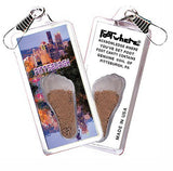 Pittsburgh FootWhere® Souvenir Zipper-Pull. Made in USA-FootWhere® Souvenirs