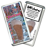 Portland, ME FootWhere® Souvenir Fridge Magnet. Made in USA-FootWhere® Souvenirs