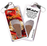 Portland, ME FootWhere® Souvenir Zipper-Pull. Made in USA - FootWhere® Souvenirs