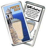 Puerto Rico FootWhere® Souvenir Magnet. Made in USA-FootWhere® Souvenirs