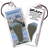 Paris FootWhere® Souvenir Key Chain. Made in USA-FootWhere® Souvenirs