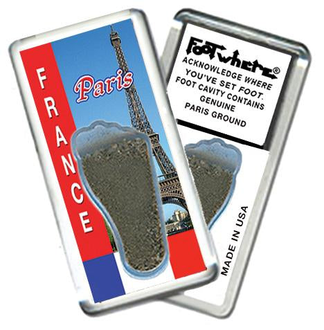 Paris FootWhere® Souvenir Fridge Magnet. Made in USA - FootWhere® Souvenirs