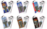 Paris FootWhere® Souvenir Zipper-Pulls. 6 Piece Set. Made in USA