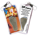 Palm Springs FootWhere® Souvenir Zipper-Pull. Made in USA - FootWhere® Souvenirs