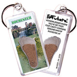 Rochester FootWhere® Souvenir Keychains. 6 Piece Set. Made in USA-FootWhere® Souvenirs