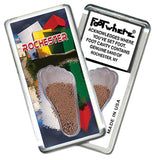 Rochester FootWhere® Souvenir Fridge Magnets. 6 Piece Set. Made in USA-FootWhere® Souvenirs