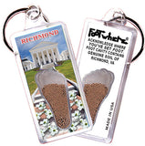 Richmond FootWhere® Souvenir Keychains. 6 Piece Set. Made in USA-FootWhere® Souvenirs