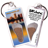 Richmond FootWhere® Souvenir Keychain. Made in USA-FootWhere® Souvenirs