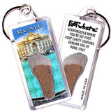 Rome, Italy FootWhere® Souvenir Keychain. Made in USA - FootWhere® Souvenirs