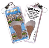Rome, Italy FootWhere® Souvenir Zipper-Pull. Made in USA - FootWhere® Souvenirs