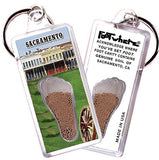 Sacramento FootWhere® Keychain. Made in USA-FootWhere® Souvenirs