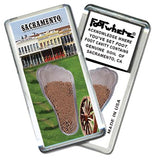 Sacramento FootWhere® Souvenir Fridge Magnet. Made in USA-FootWhere® Souvenirs