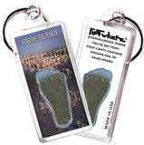 Saudi Arabia FootWhere® Souvenir Key Chain. Made in USA-FootWhere® Souvenirs