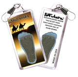 Saudi Arabia FootWhere® Souvenir Zipper-Pull. Made in USA - FootWhere® Souvenirs