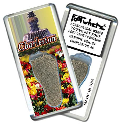 Charleston, SC FootWhere® Souvenir Magnet. Made in USA-FootWhere® Souvenirs