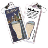 San Diego FootWhere® Souvenir Zipper-Pull. Made in USA-FootWhere® Souvenirs