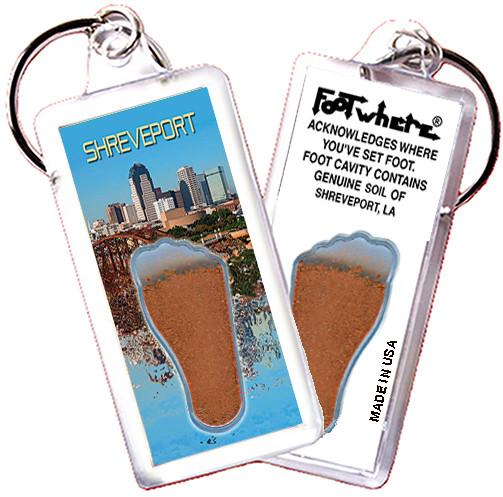 Shreveport FootWhere® Souvenir Key Chain. Made in USA - FootWhere® Souvenirs
