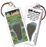 Saint Louis FootWhere® Souvenir Keychain. Made in USA-FootWhere® Souvenirs