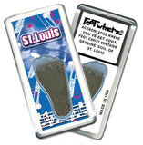 Saint Louis FootWhere® Souvenir Magnet. Made in USA-FootWhere® Souvenirs
