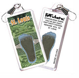 St. Louis FootWhere® Souvenir Zipper-Pull. Made in USA-FootWhere® Souvenirs