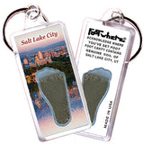 Salt Lake City FootWhere® Souvenir Keychains. 6 Piece Set. Made in USA