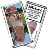 Selma, AL FootWhere® Souvenir Magnet. Made in USA-FootWhere® Souvenirs
