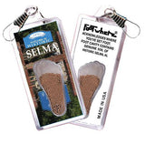 Selma, AL FootWhere® Souvenir Zipper-Pull. Made in USA-FootWhere® Souvenirs